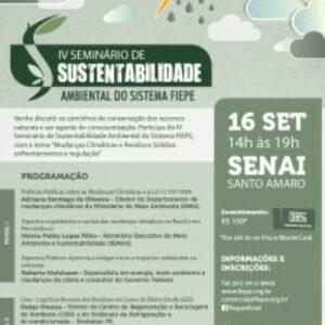 Especialistas em Sustentabilidade se encontram na Fiepe