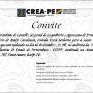 Auditório da Fiepe será palco da última Plenária Solene do Crea-PE