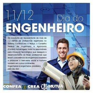 José Mário parabeniza a todos os engenheiros
