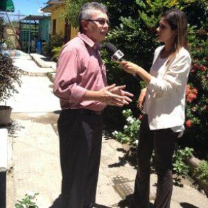 Presidente Evandro Alencar é entrevistado pela TV Globo sobre construção de cisternas