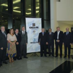 Evandro Alencar prestigia posse do presidente reeleito do Paraná, Joel Krüger