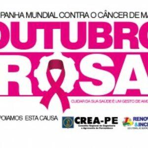 Crea-PE entra na luta de prevenção contra o câncer de mama e apoia o Outubro Rosa