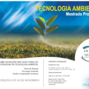 ITEP abre inscrições para o mestrado em Tecnologia Ambiental