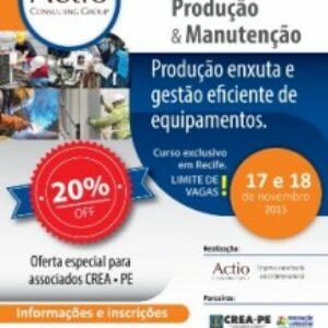 Curso discutirá estratégias de produção enxuta e gestão eficiente de equipamentos