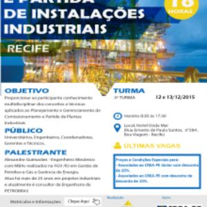 Inscrições abertas para curso de Comissionamento e Partida de Instalações Industriais