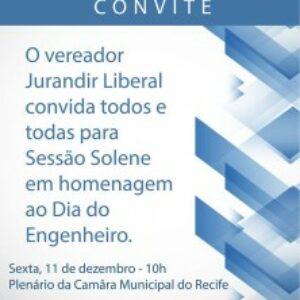 Câmara Municipal do Recife prepara homenagem para engenheiros