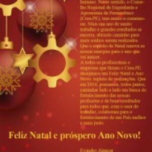 Mensagem de Natal aos profissionais e empresas