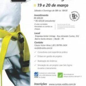 Profissionais registrados no Crea-PE e membros do Crea Jr PE têm 20% de desconto no curso de Yellow Belts em Lean Seis Sigma