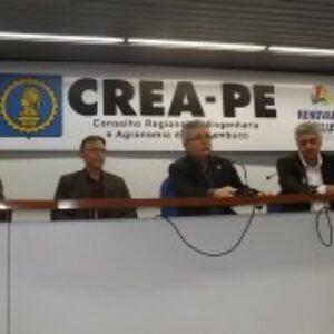 Com auditório lotado, Crea-PE promove, junto com AEAMBPE e APEEF, debate sobre barragens de Pernambuco