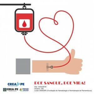 Crea Jr PE promove campanha de doação de sangue
