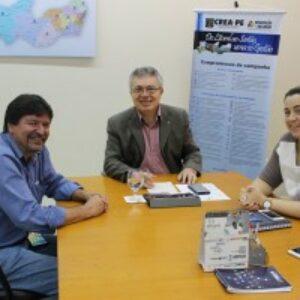 Presidente do Crea-PE recebe visita do vice-presidente da Abracopel