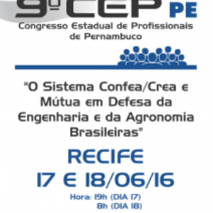 Crea-PE promove 9° Congresso Estadual de Profissionais nesta sexta e sábado