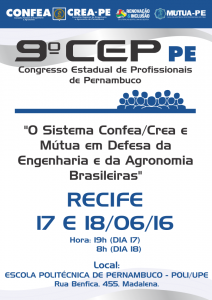 Cartaz CEP2016 Recife