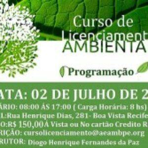 AEAMB-PE promove dois cursos para engenheiros ambientais em julho