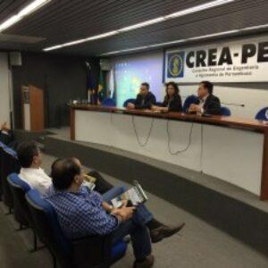 Profissionais e estudantes participam do Terça no Crea