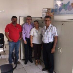 No Araripe, Evandro Alencar visita novos presidentes do Sindusgesso e da Fiepe