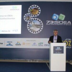 Evandro Alencar apresenta Terça no Crea e projeto de Interiorização de PE na Mostra de Boas Práticas da 73ª SOEA