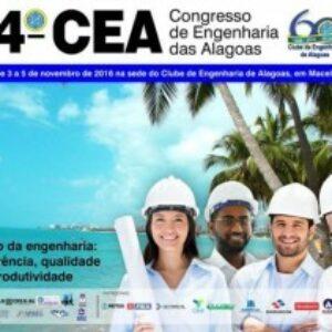 Futuro da Engenharia é tema de congresso técnico em Alagoas
