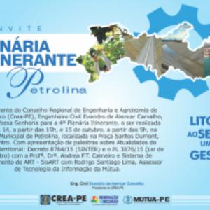 Plenária Itinerante do Crea-PE será realizada em Petrolina