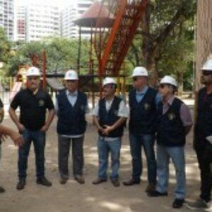 Blitz do Crea vistoria o Parque da Jaqueira e identifica falhas de manutenção na rede elétrica, poda de árvores e falta de água