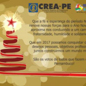 Crea-PE deseja um Feliz Natal e um próspero Ano Novo