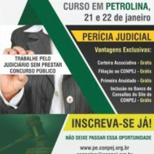 Conpej abre inscrições para curso de Perícia Judicial em Petrolina