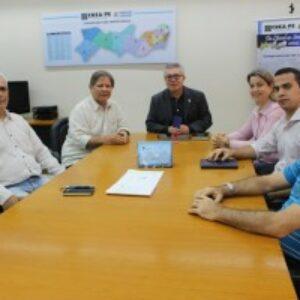 Evandro Alencar recebe diretor presidente da JBR Engenharia e representante do CTEN