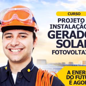 Curso abordará Projeto e Instalação de Gerador Solar Fotovoltaico