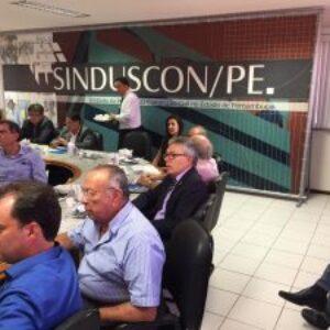 Workshop promovido pelo Sinduscon/PE tem participação do presidente do CREA-PE