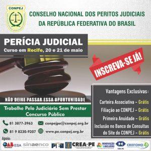 Conpej abre inscrições para a 4ª Turma do Curso de Perícia Judicial