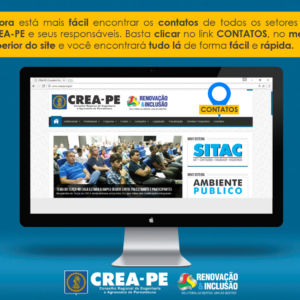 Contatos e setores, no site do CREA-PE, ficou mais fácil de acessar
