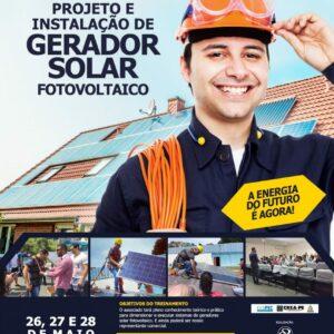 Abertas as inscrições para a segunda turma do curso de Projeto e Instalação de Gerador Solar Fotovoltaico