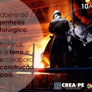 CREA-PE celebra o Dia do Engenheiro Metalúrgico