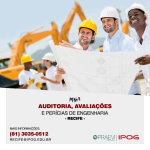 IPOG com inscrições abertas para Pós-graduação em Auditoria, Avaliações e Perícias de Engenharia