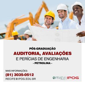 IPOG abre inscrições para a Pós-Graduação Auditoria, Avaliações e Perícias da Engenharia em Petrolina