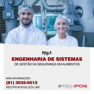 IPOG abre inscrições para o MBA – Engenharia de Sistemas de Gestão da Segurança dos Alimentos