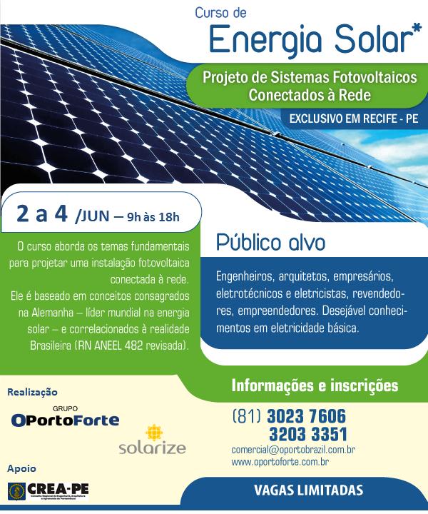 Read more about the article Curso de Energia Solar será ministrado pelo Grupo OPortoBrazil