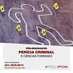 IPOG abre inscrições para Pós-graduação em Perícia Criminal e Ciências Forenses