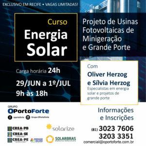OPortoForte inscreve para curso de Projetos de Usinas Fotovoltaicas de Minigeração e Grande Porte