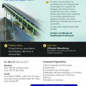 Racionalização de Processos e Gestão de Resíduos na Construção Civil é tema de curso realizado pela WOM Engenharia