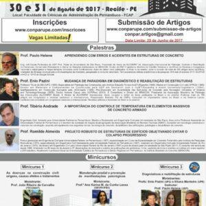 UPE realiza Conferência Nacional de Patologia e Recuperação de Estrutura