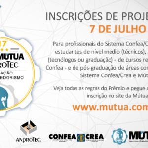 Dez dias para o encerramento das inscrições ao Prêmio Mútua/Anprotec de Empreendedorismo e Inovação 2017