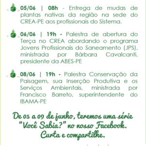 CREA-PE comemora Dia Mundial do Meio Ambiente com ações de conscientização