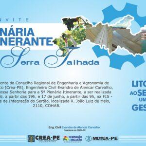 Serra Talhada sediará 1ª Plenária Itinerante de 2017 realizada pelo CREA-PE