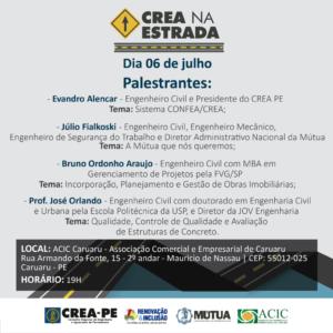 Caruaru receberá o 6º CREA na Estrada