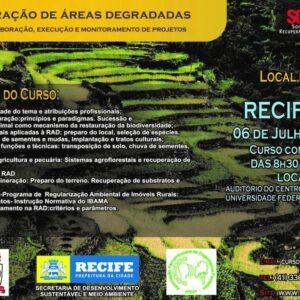 Sobrade realiza, no Recife, o curso de Recuperação de Áreas Degradadas