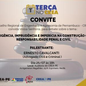 AdvogadoCivile Criminalista fará palestra no próximo Terça no CREA