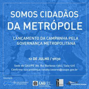 Entidades cobram instalação de governança para a metrópole