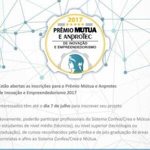 Inscrições para o Prêmio Mútua/Anprotec até 7 de julho