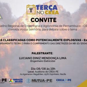 "O próximo Terça no CREA terá palestra sobre ""Áreas classificadas como potencialmente explosivas – ExZone"""